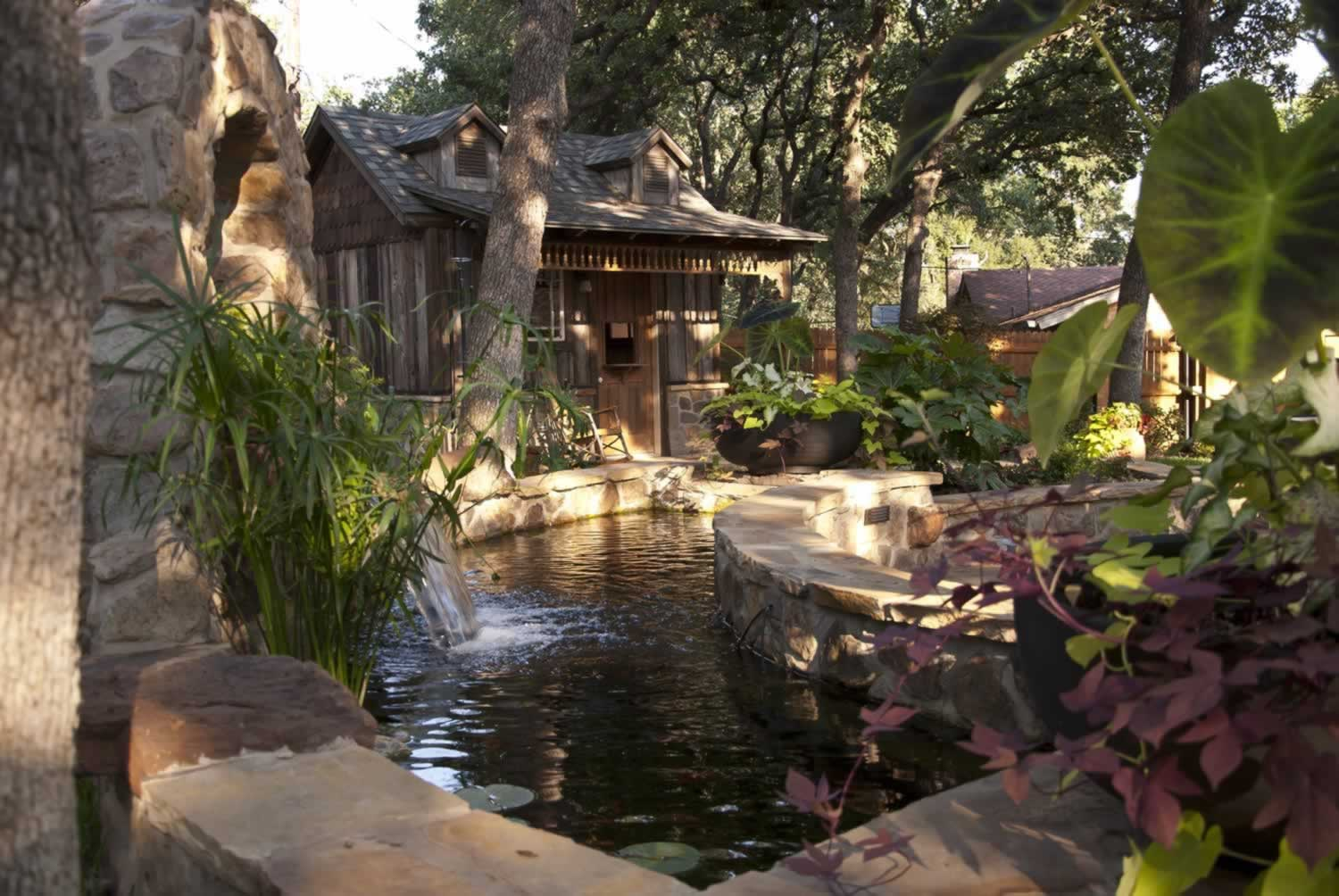 Landscape contractors residential commercial fort worth tx for Texas landscape design