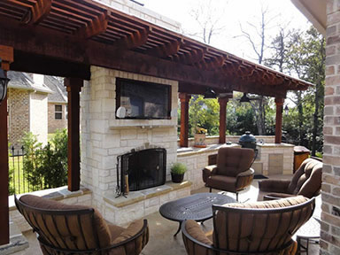 Landscape Contractor for residential and commercial landscapes and outdoor lighting by the professional technicians in Fort Worth, Dallas Texas