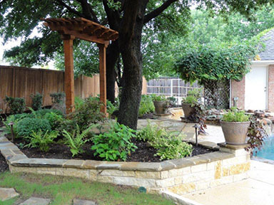 Landscape Contractors and outdoor lighting by the professional technicians in Fort Worth, Texas