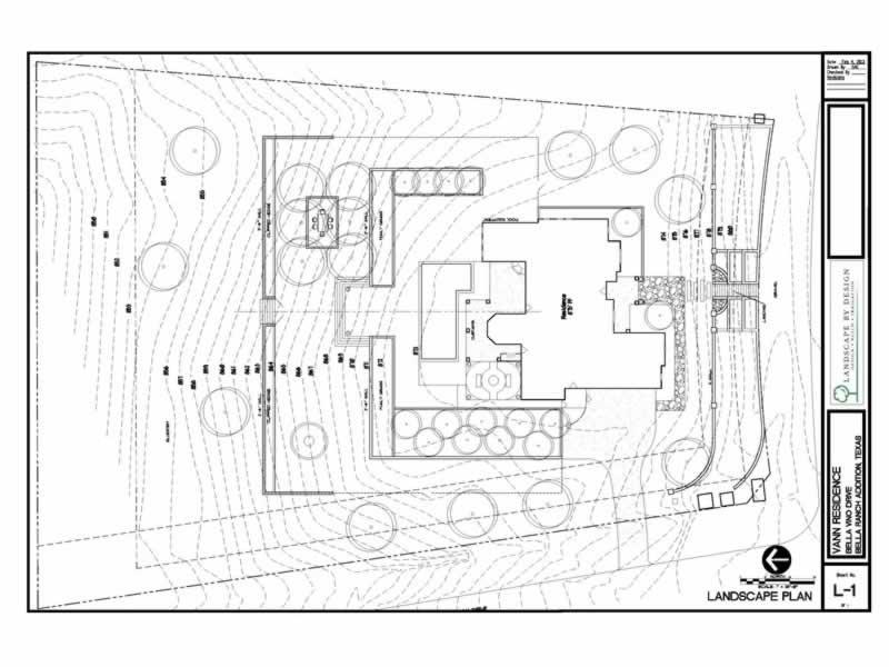 A blueprint for an Aledo Landscape Design layout